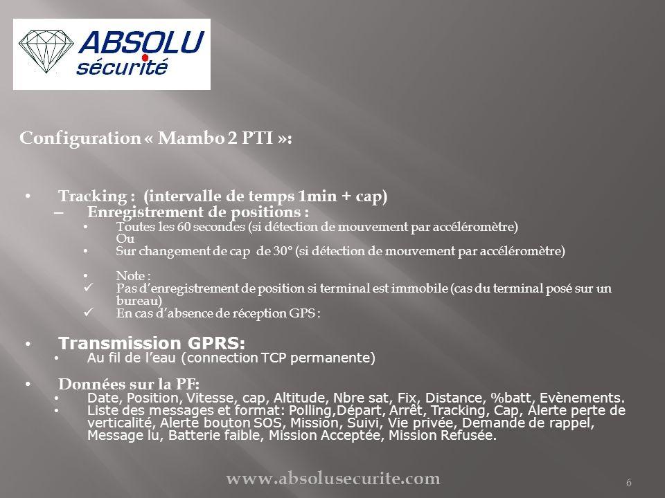 Configuration « Mambo 2 PTI »: