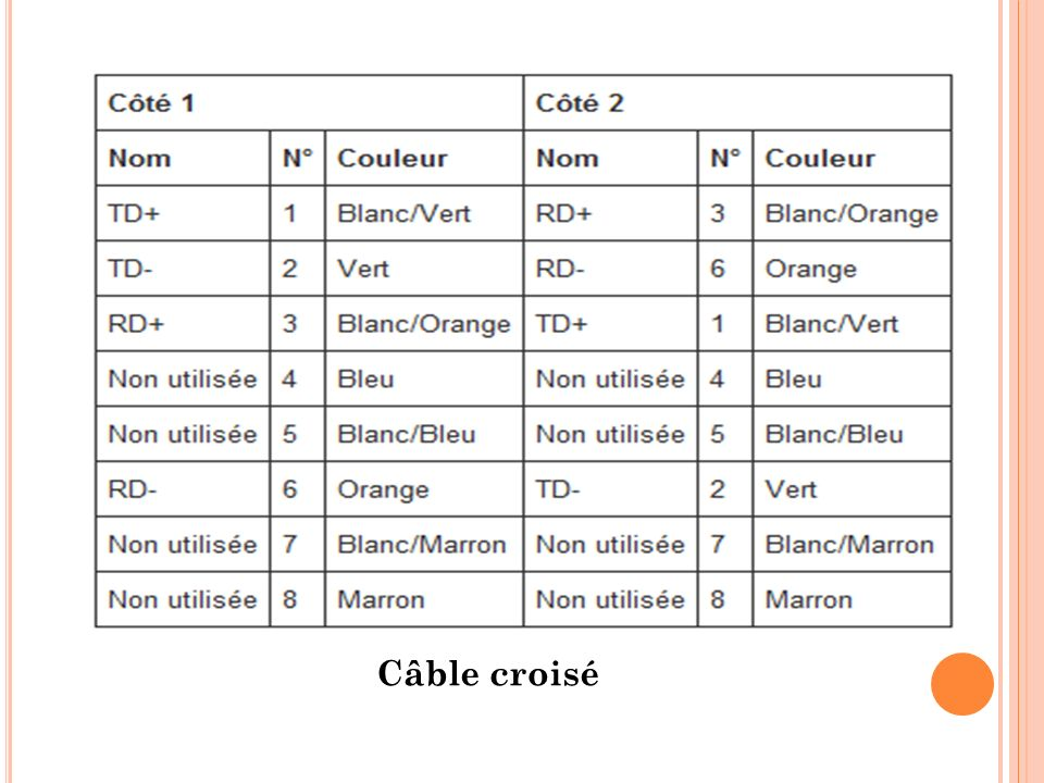 Câble croisé