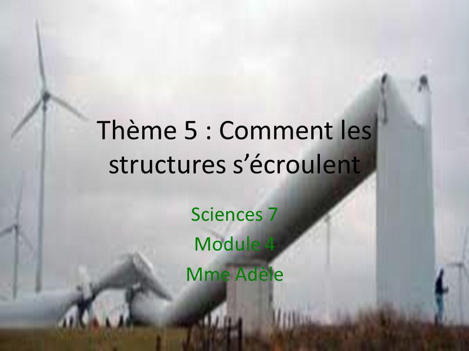 Thème 5 : Comment les structures s'écroulent