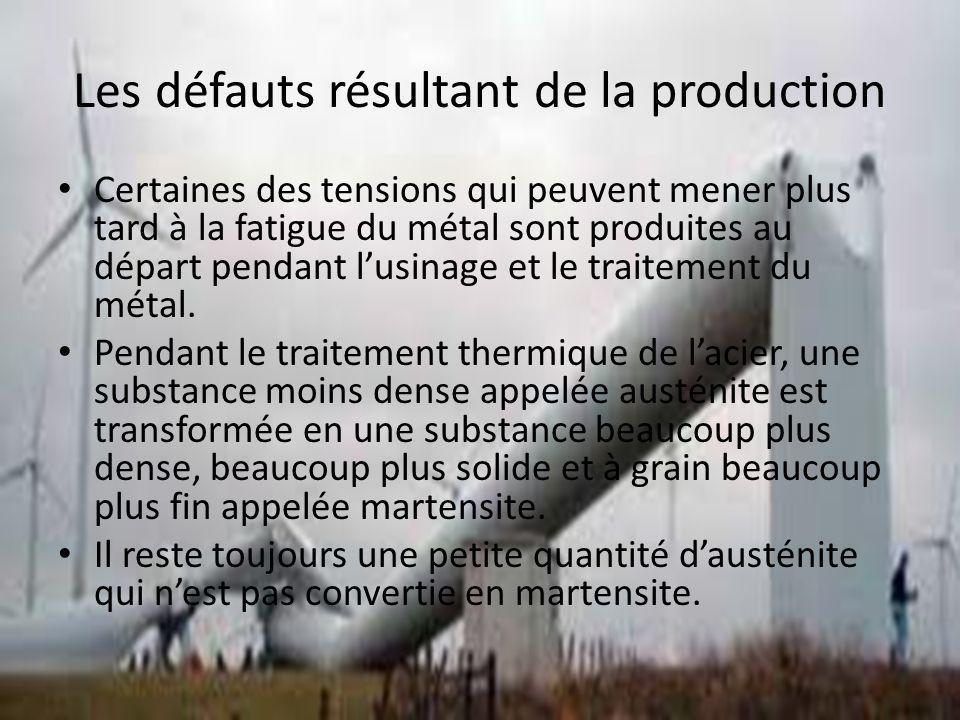 Les défauts résultant de la production