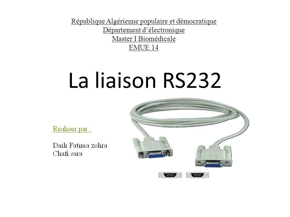La liaison RS232 République Algérienne populaire et démocratique