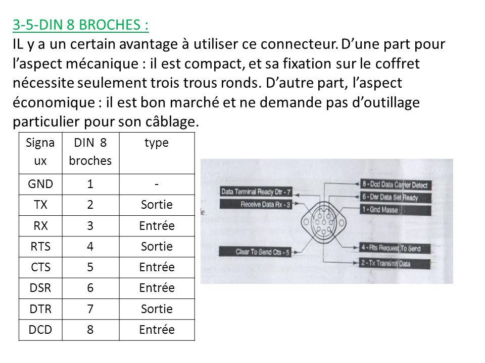 3-5-DIN 8 BROCHES :