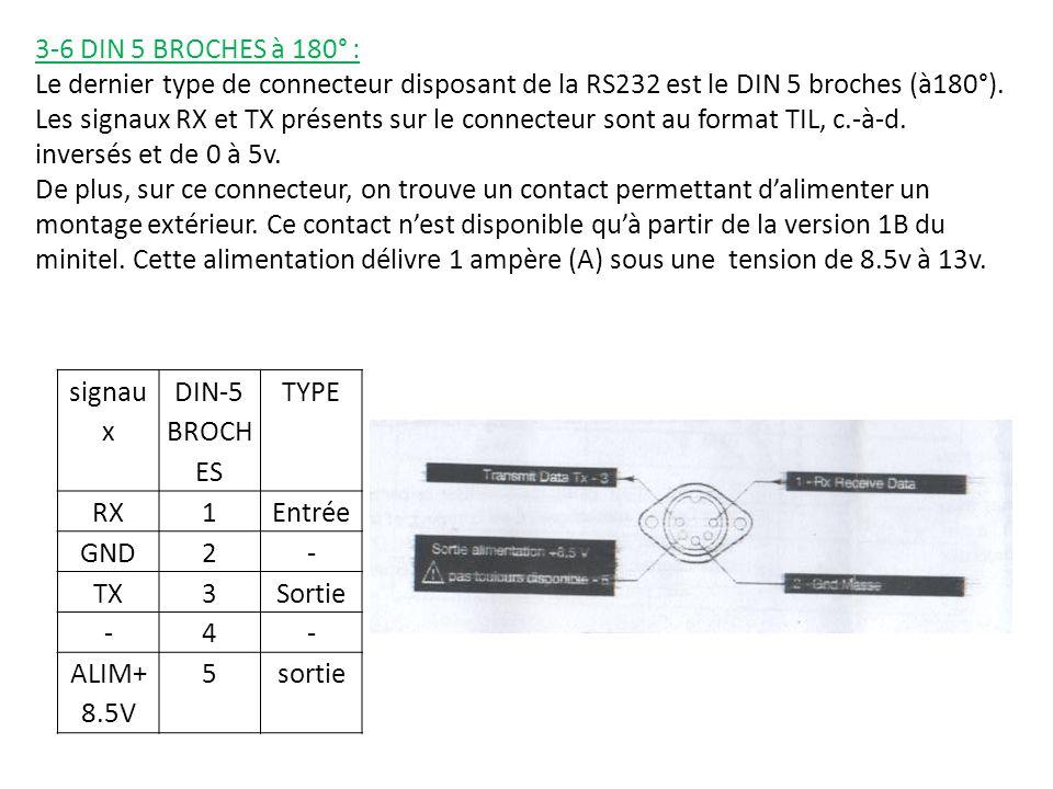 3-6 DIN 5 BROCHES à 180° :