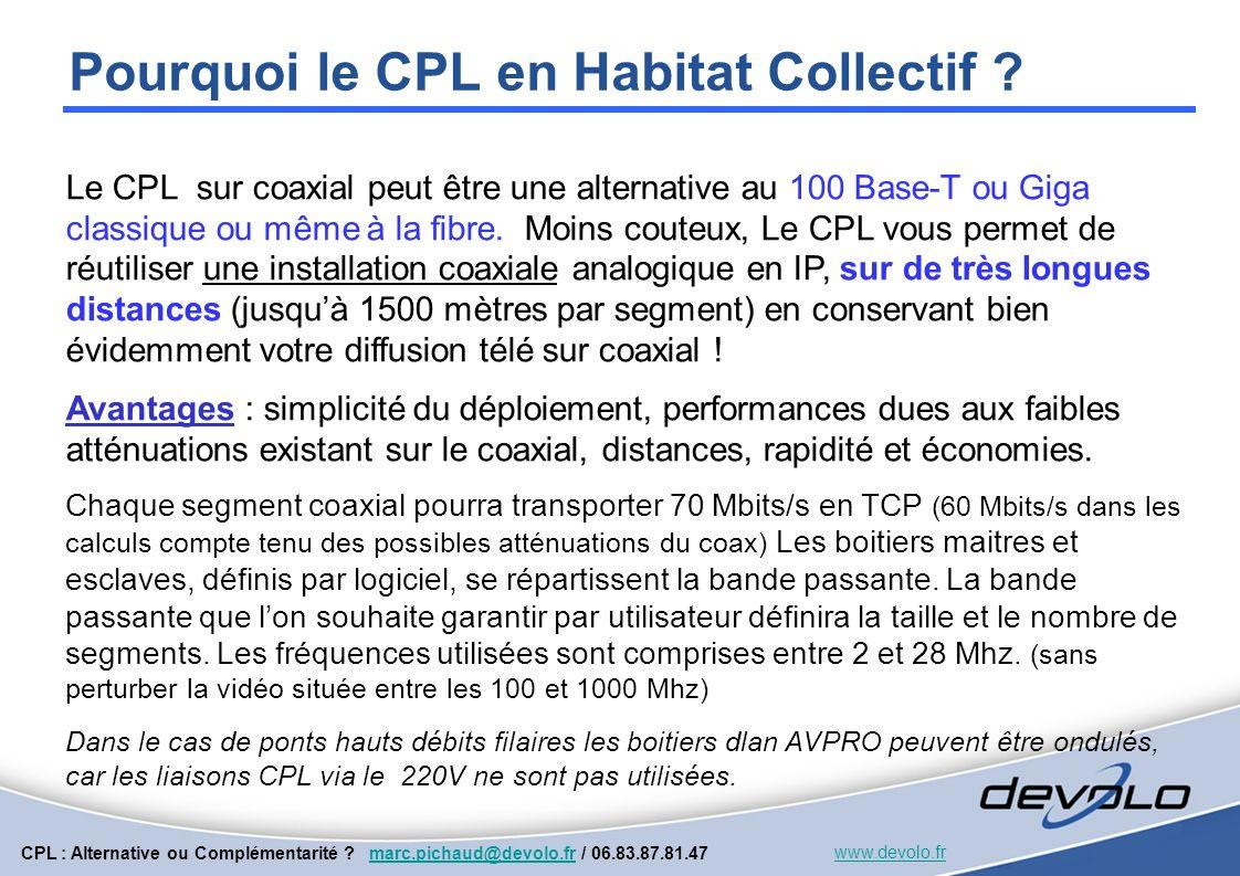 Pourquoi le CPL en Habitat Collectif
