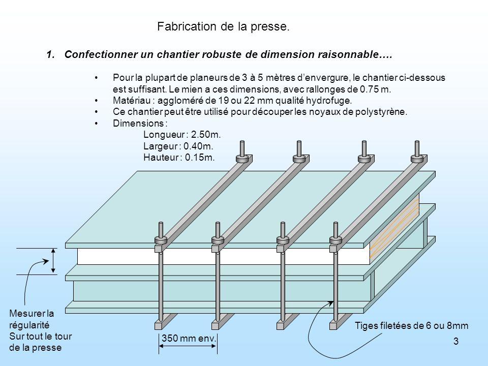 Fabrication de la presse.