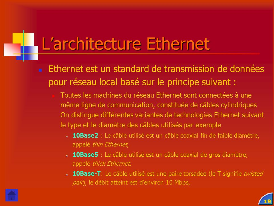 L'architecture Ethernet