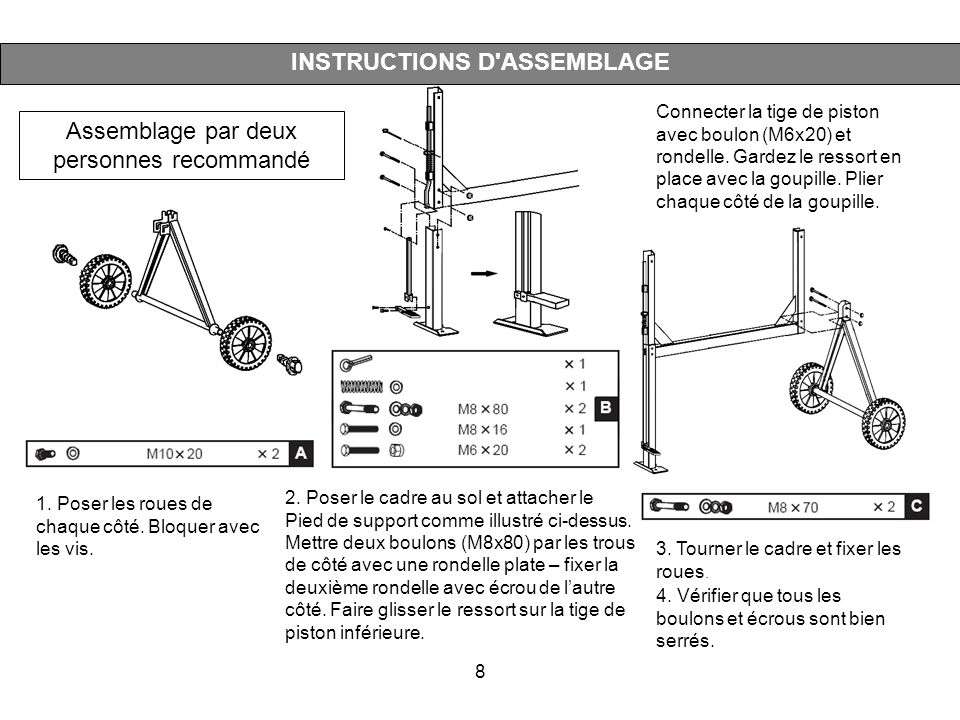 INSTRUCTIONS D ASSEMBLAGE