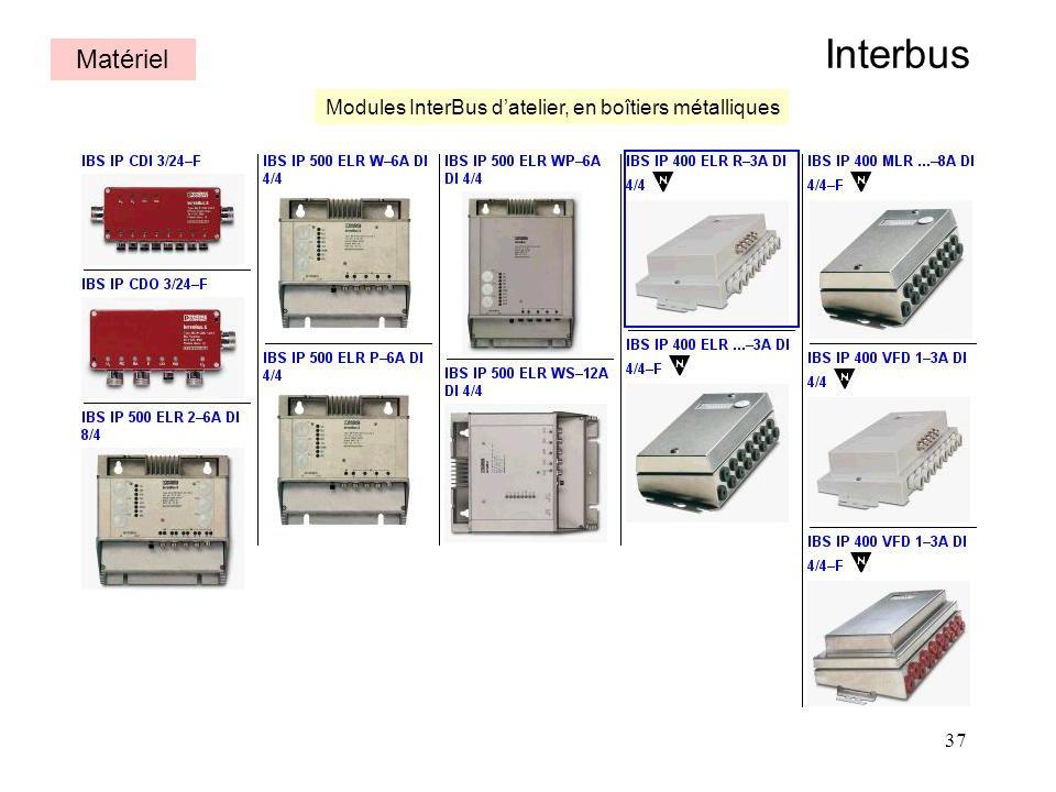 Interbus Matériel Modules InterBus d'atelier, en boîtiers métalliques