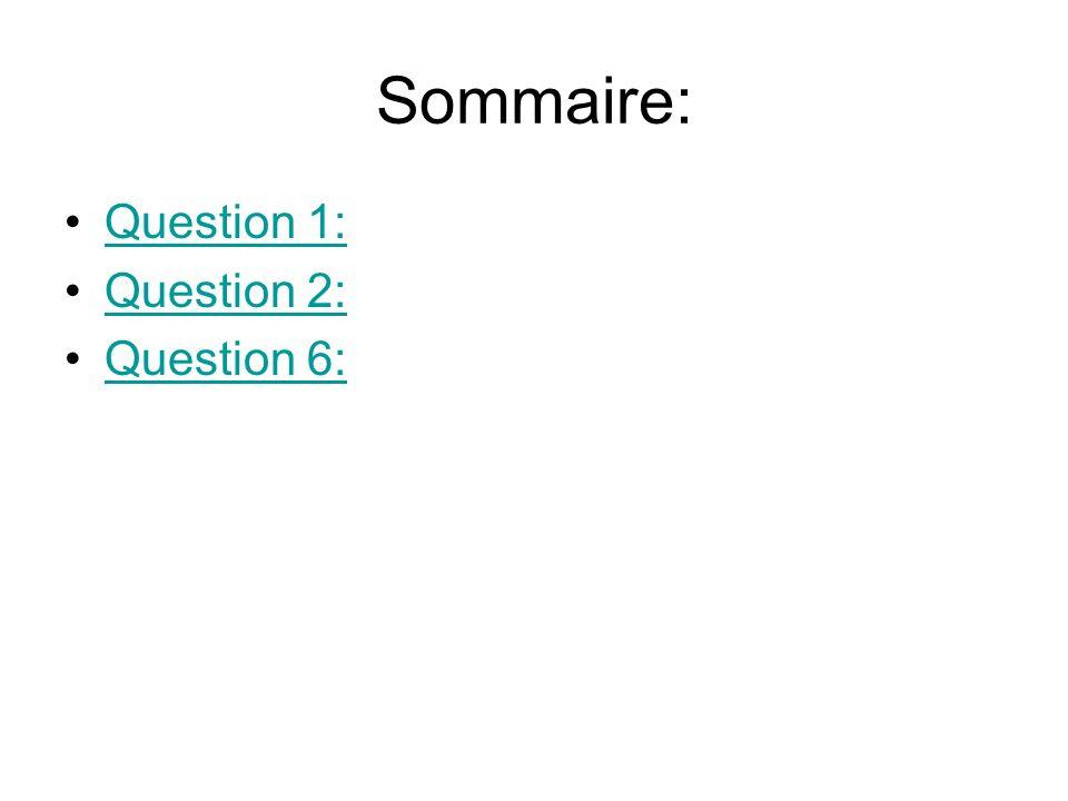 Sommaire: Question 1: Question 2: Question 6: