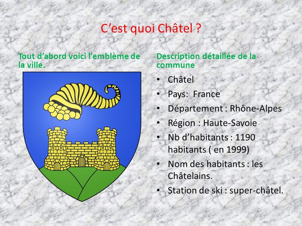 C'est quoi Châtel Châtel Pays: France Département : Rhône-Alpes