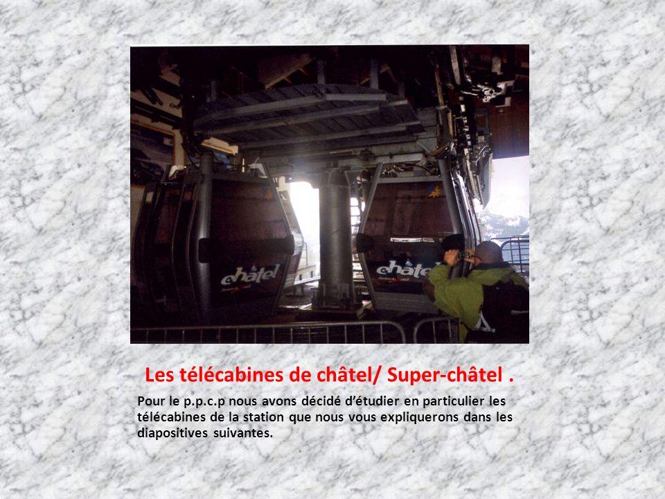 Les télécabines de châtel/ Super-châtel .