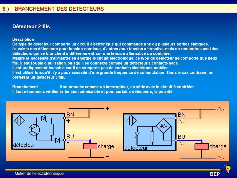 6 ) BRANCHEMENT DES DETECTEURS