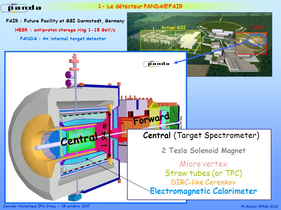 Central Forward Central (Target Spectrometer) Micro vertex