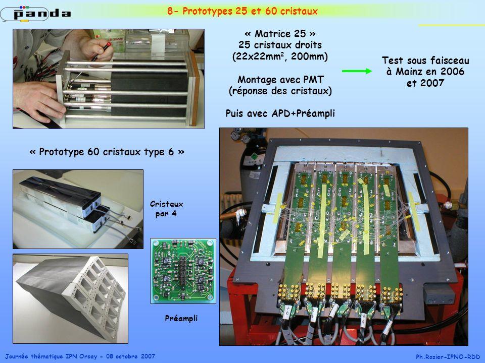 8- Prototypes 25 et 60 cristaux