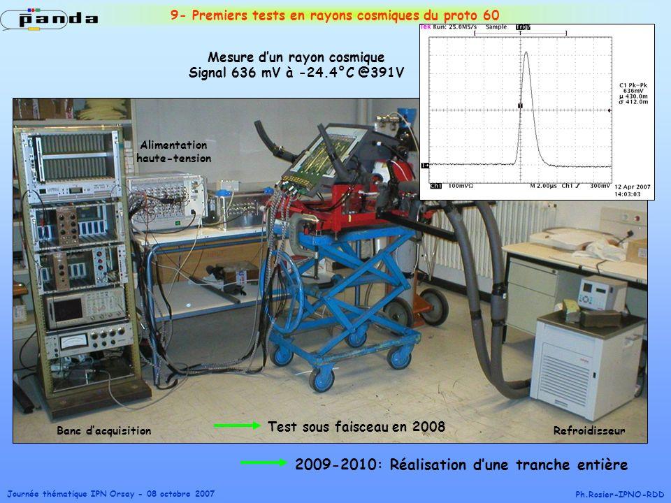 9- Premiers tests en rayons cosmiques du proto 60