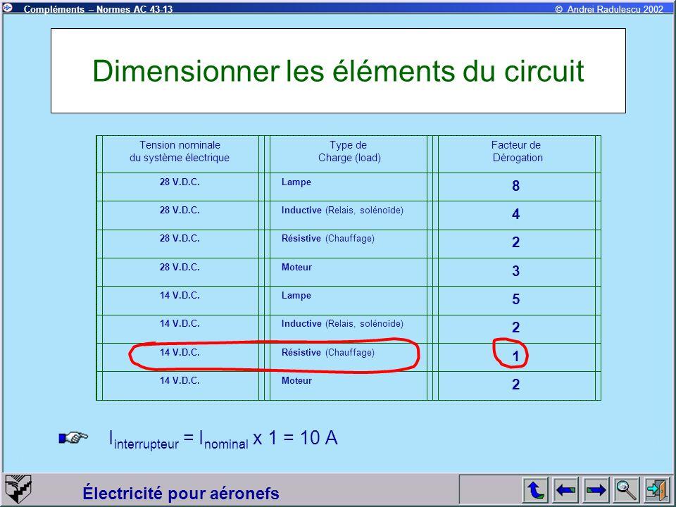 Dimensionner les éléments du circuit