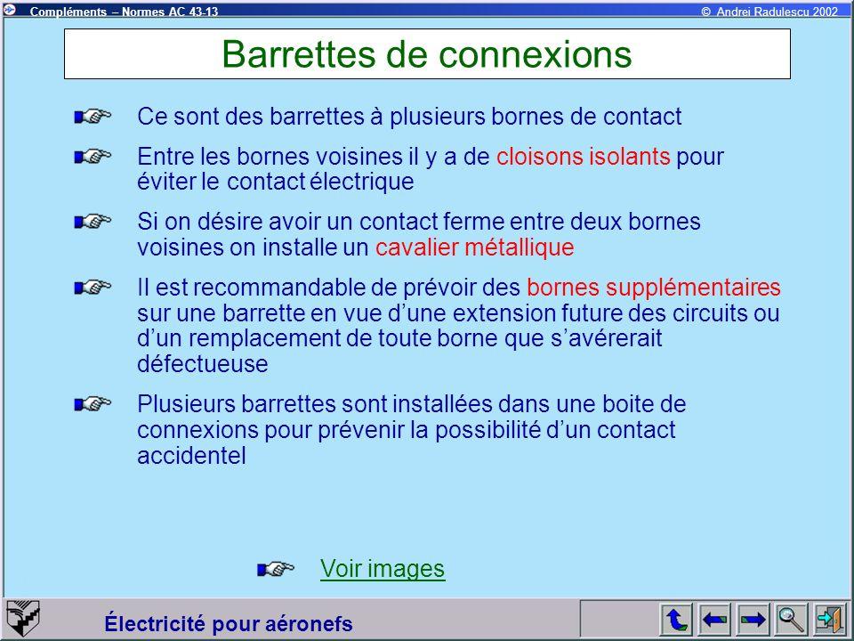 Barrettes de connexions