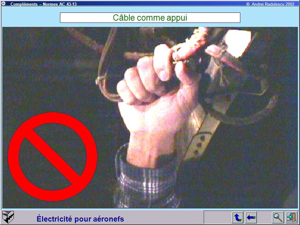 Câble comme appui