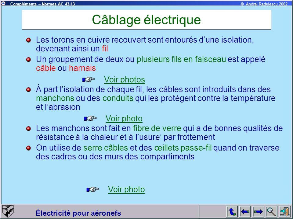Câblage électrique Les torons en cuivre recouvert sont entourés d'une isolation, devenant ainsi un fil.