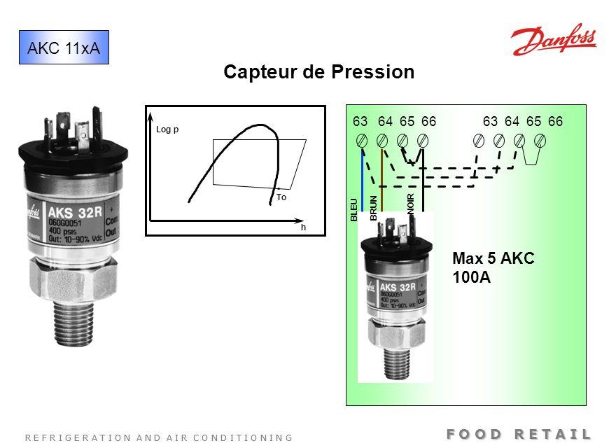 Capteur de Pression AKC 11xA Max 5 AKC 100A 63 64 65 66 63 64 65 66