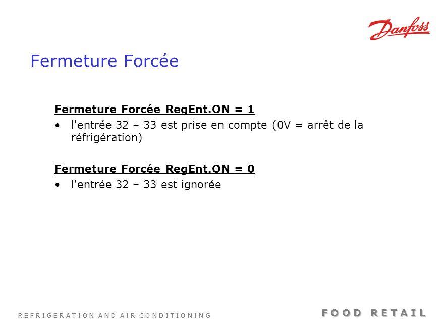 Fermeture Forcée Fermeture Forcée RegEnt.ON = 1