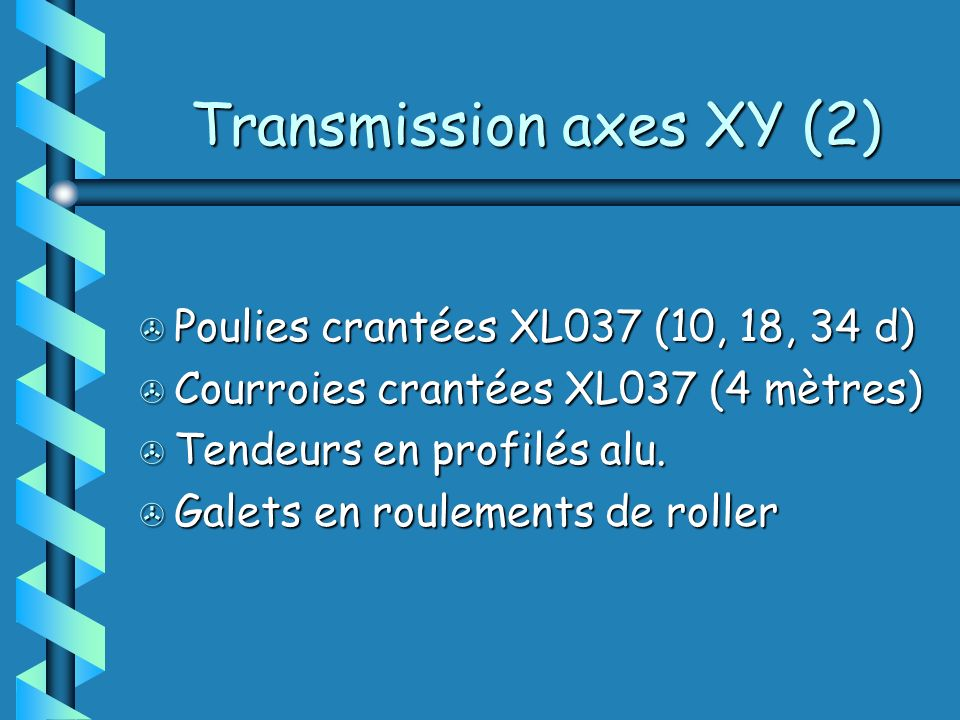 Transmission axes XY (2)