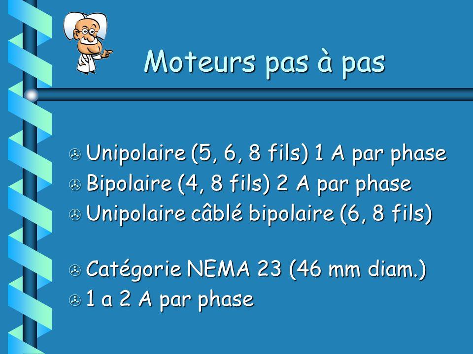 Moteurs pas à pas Unipolaire (5, 6, 8 fils) 1 A par phase