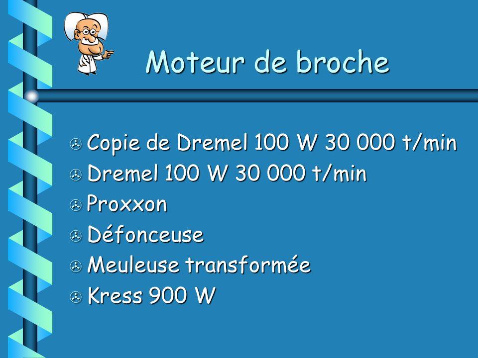 Moteur de broche Copie de Dremel 100 W 30 000 t/min