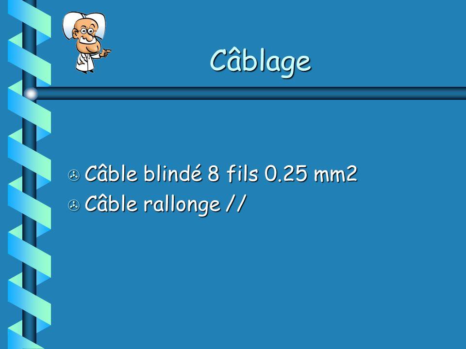 Câblage Câble blindé 8 fils 0.25 mm2 Câble rallonge //