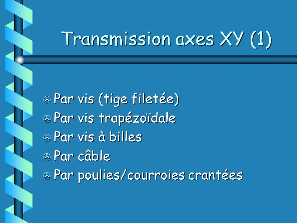 Transmission axes XY (1)