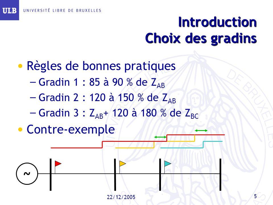 Introduction Choix des gradins