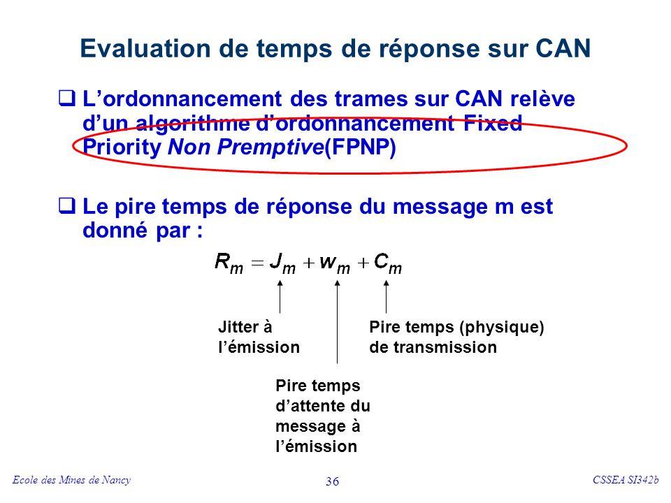 Evaluation de temps de réponse sur CAN