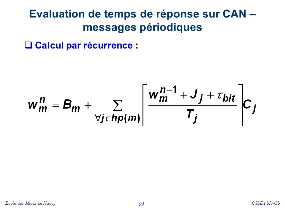 Validation d'une messagerie sur CAN