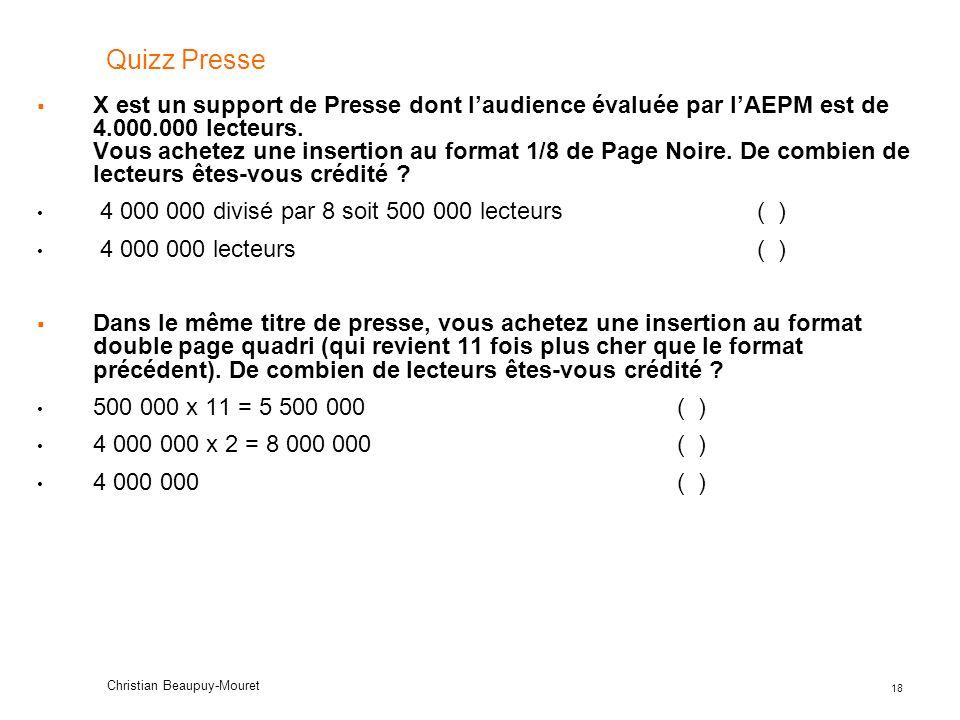 Quizz Presse