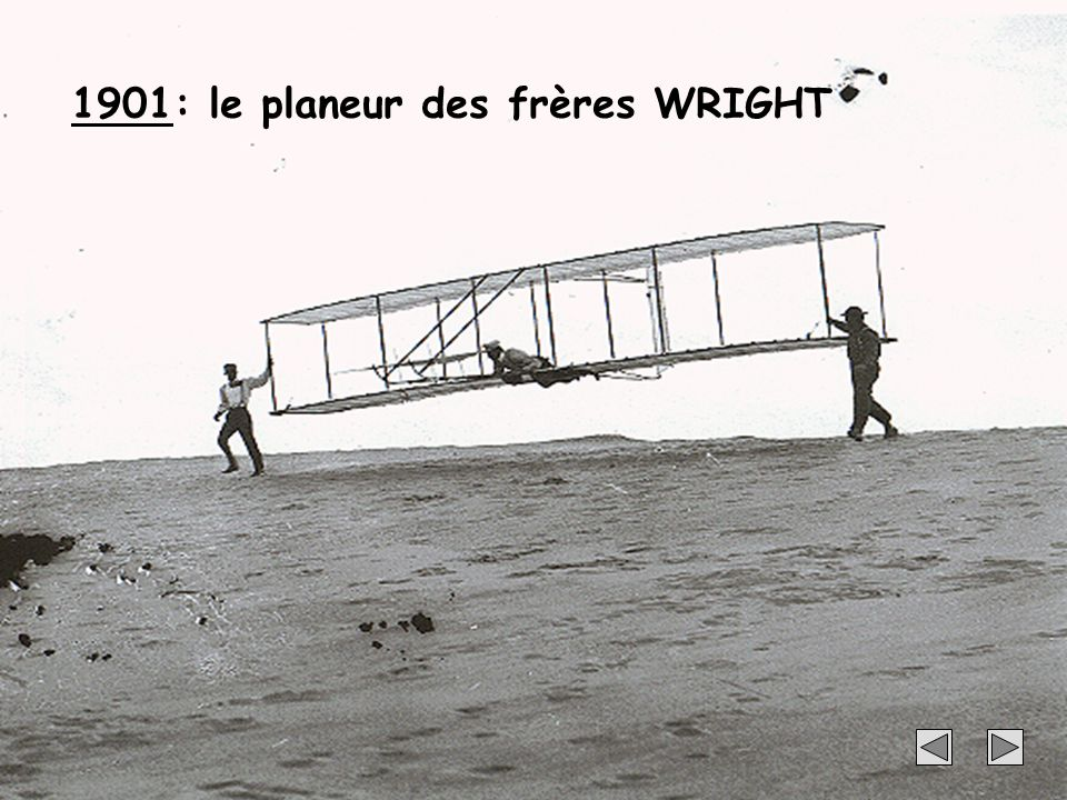 1901: le planeur des frères WRIGHT