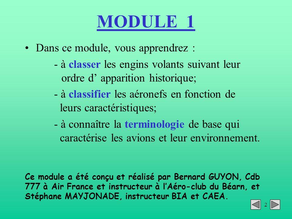 MODULE 1 Dans ce module, vous apprendrez :