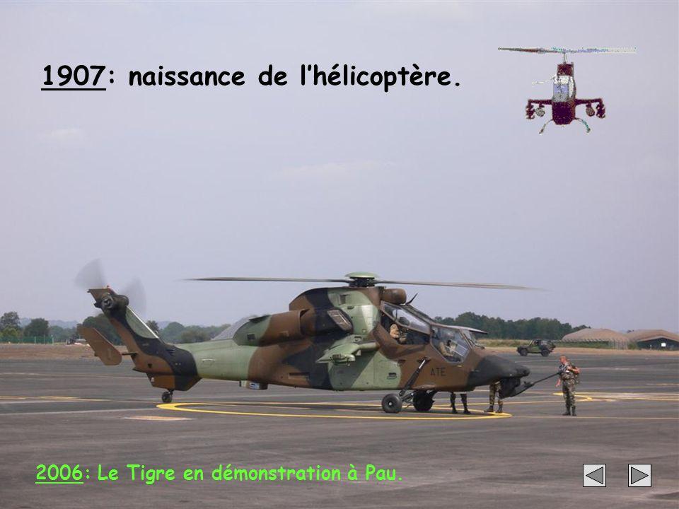 1907: naissance de l'hélicoptère.
