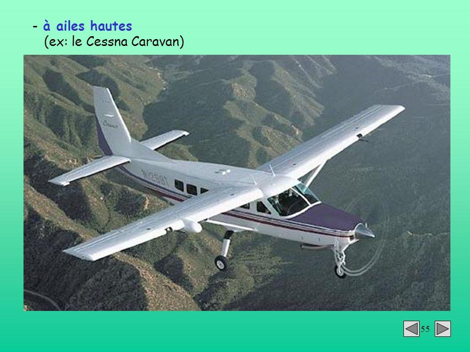 à ailes hautes (ex: le Cessna Caravan)