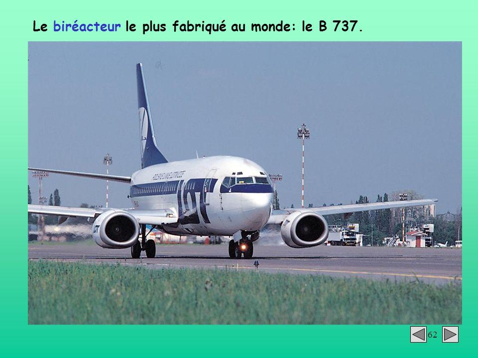 Le biréacteur le plus fabriqué au monde: le B 737.