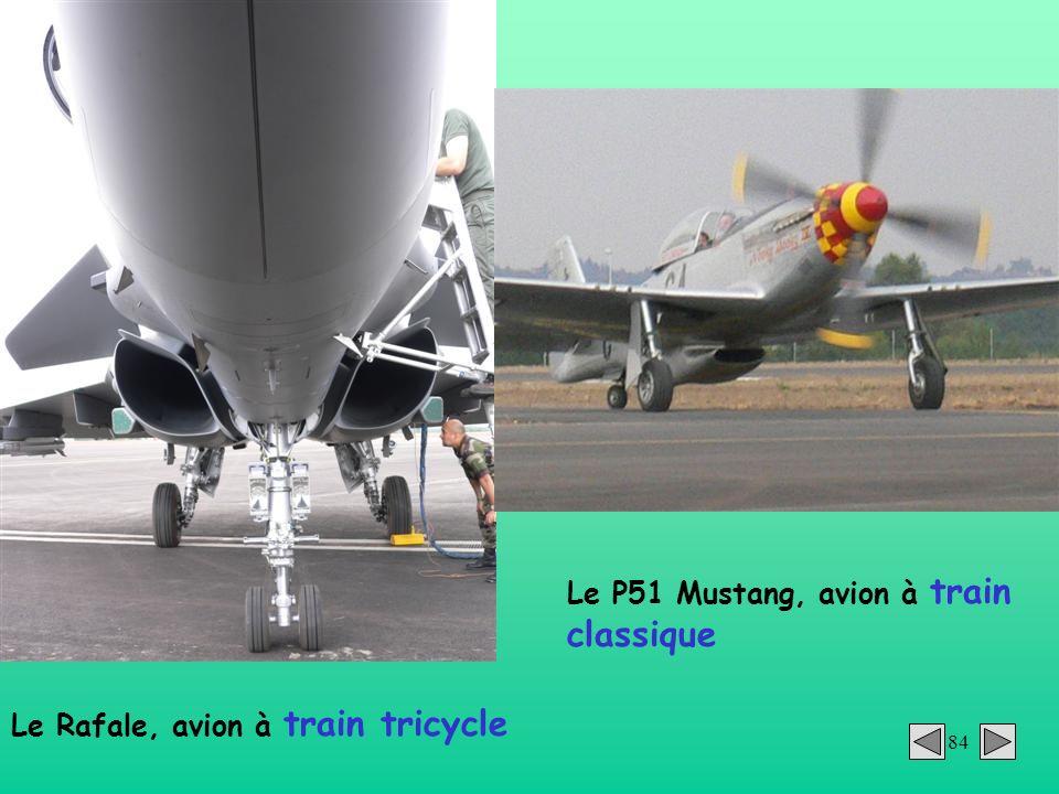 Le P51 Mustang, avion à train classique