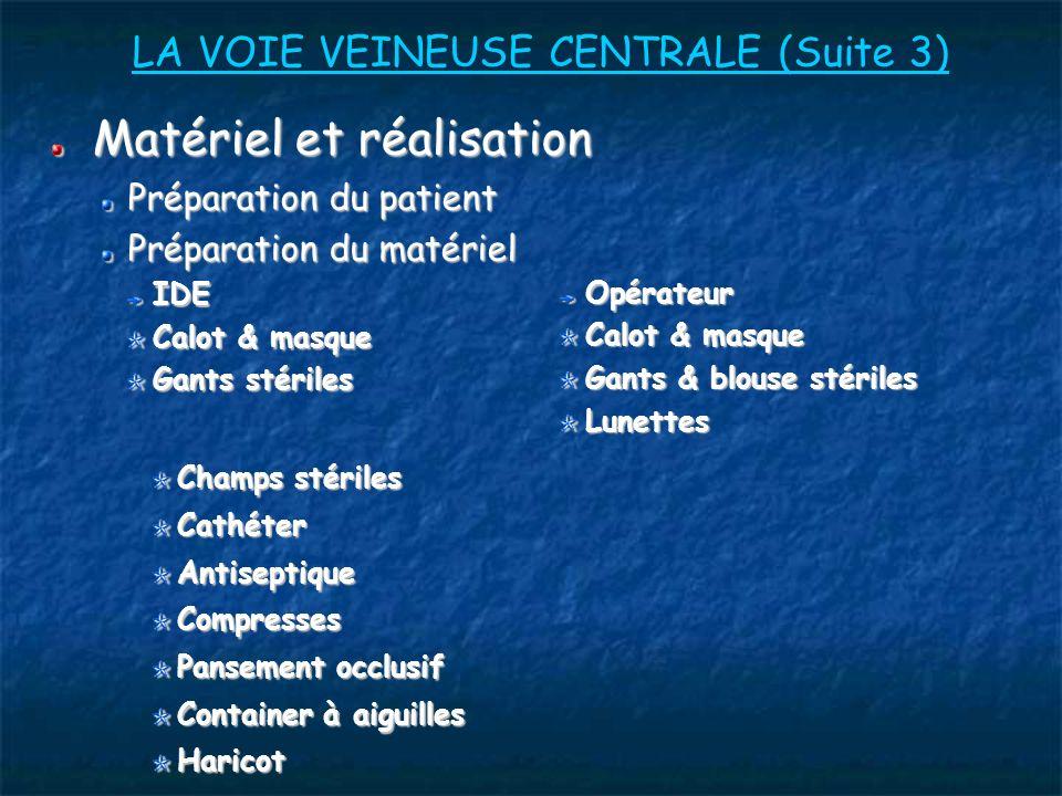 LA VOIE VEINEUSE CENTRALE (Suite 3)