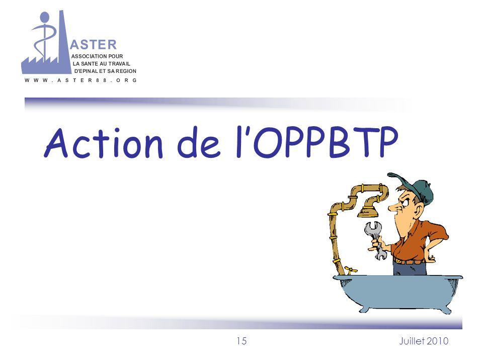 Action de l'OPPBTP