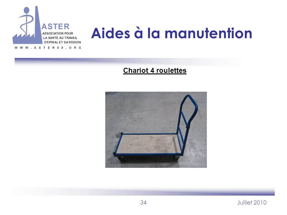 Aides à la manutention Chariot 4 roulettes