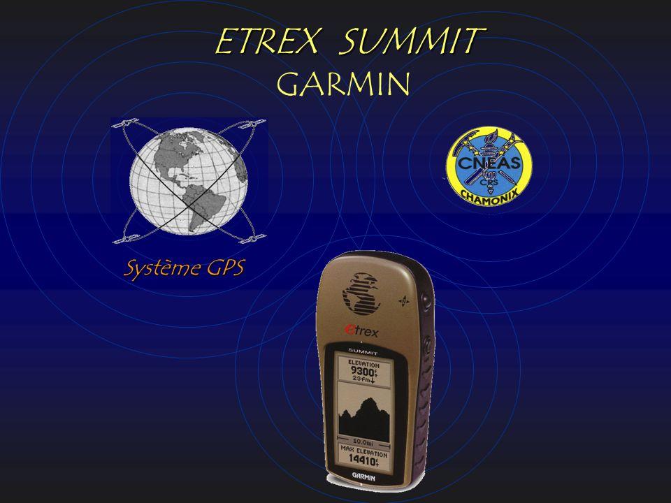 ETREX SUMMIT GARMIN Système GPS