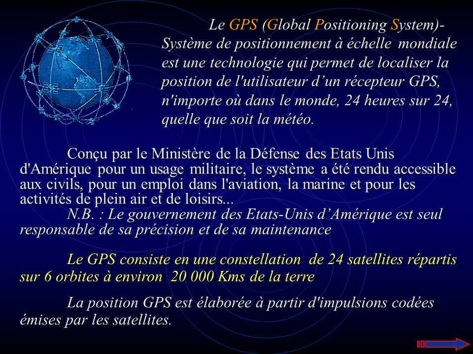 Le GPS (Global Positioning System)-