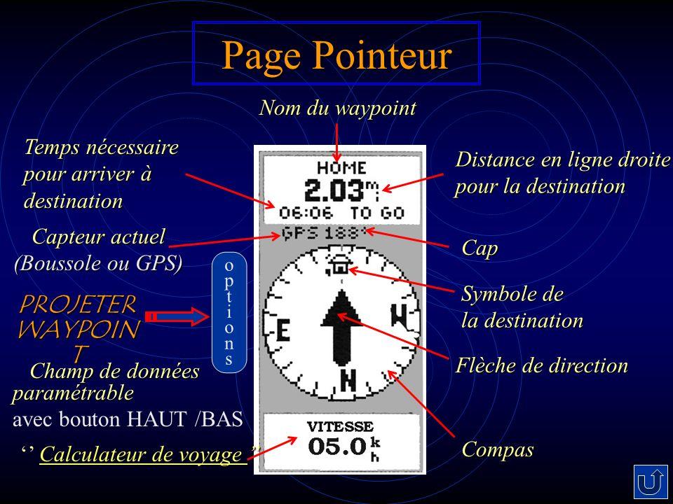 Page Pointeur PROJETERWAYPOINT Nom du waypoint