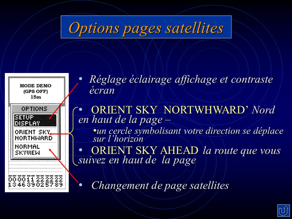 Options pages satellites