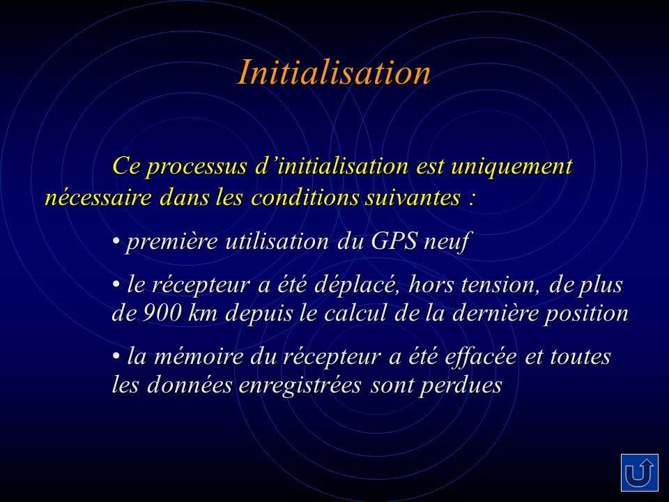 Initialisation première utilisation du GPS neuf