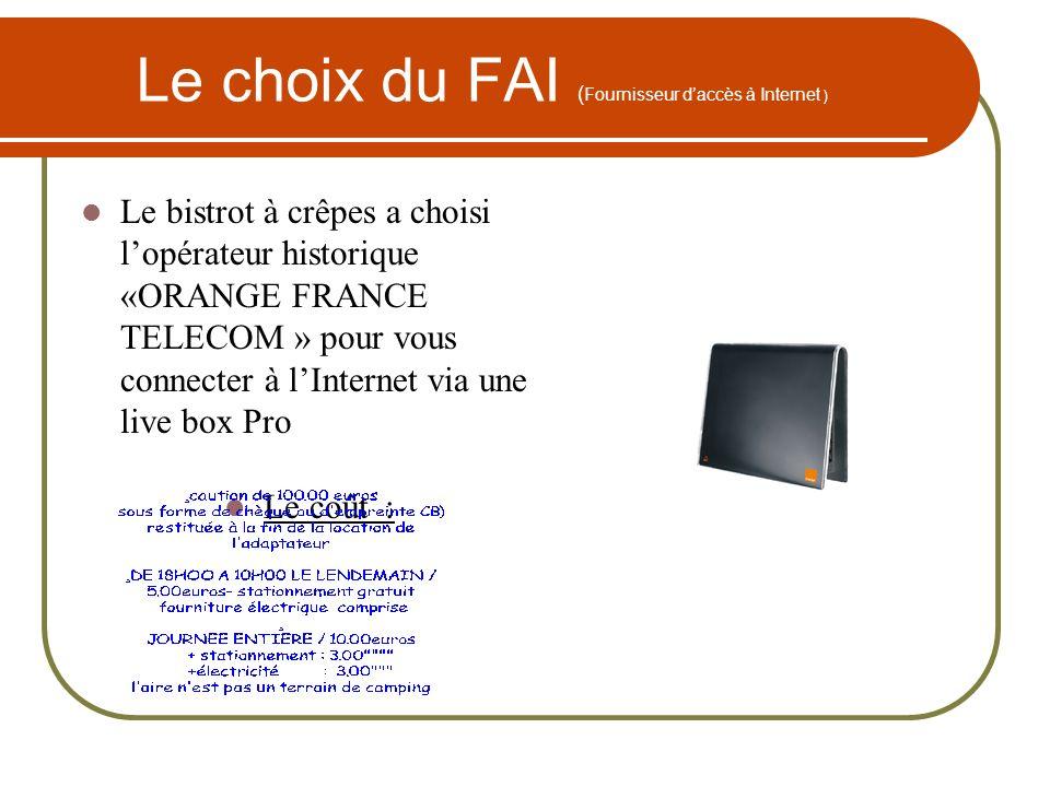 Le choix du FAI (Fournisseur d'accès à Internet )
