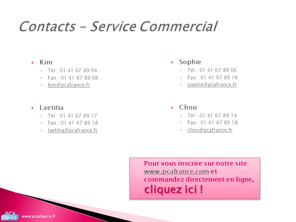 Contacts - Service Commercial